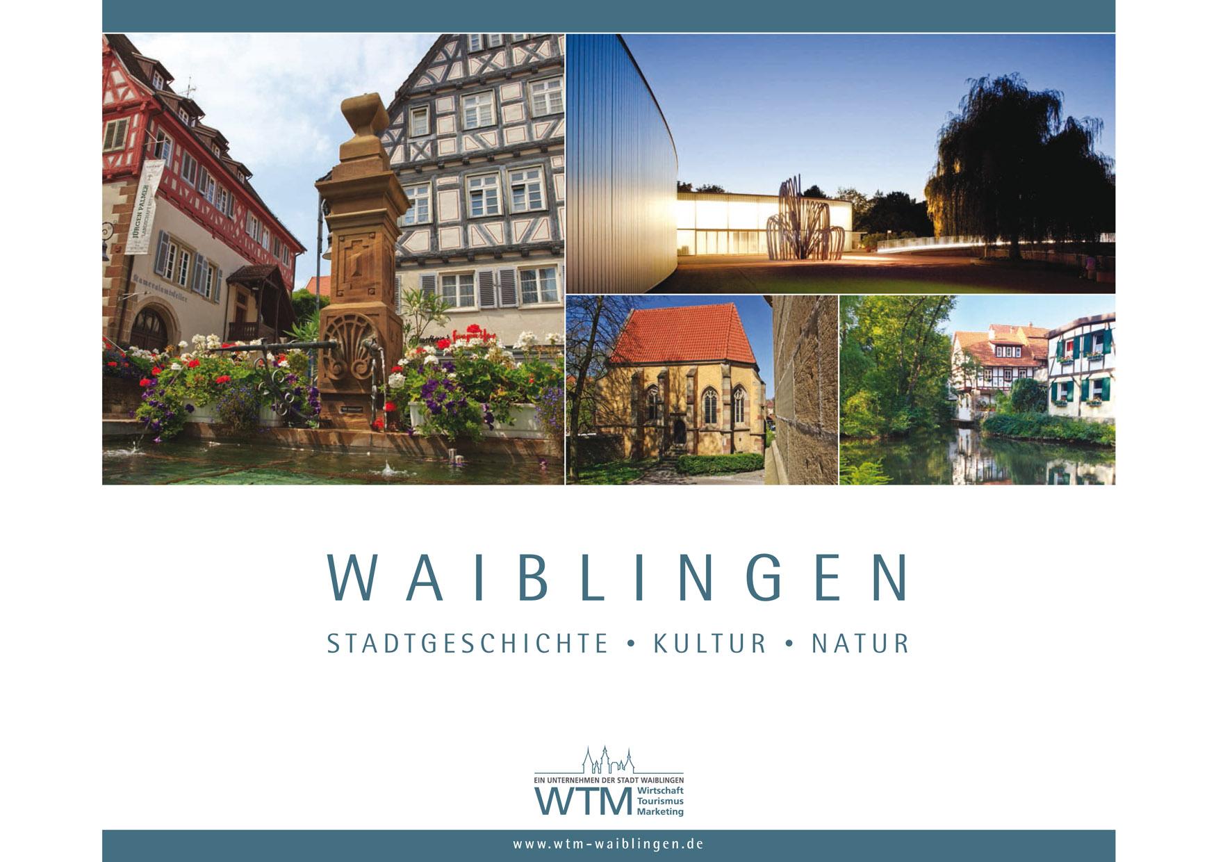 Broschüre Waiblingen Stadtgeschichte Kultur Natur