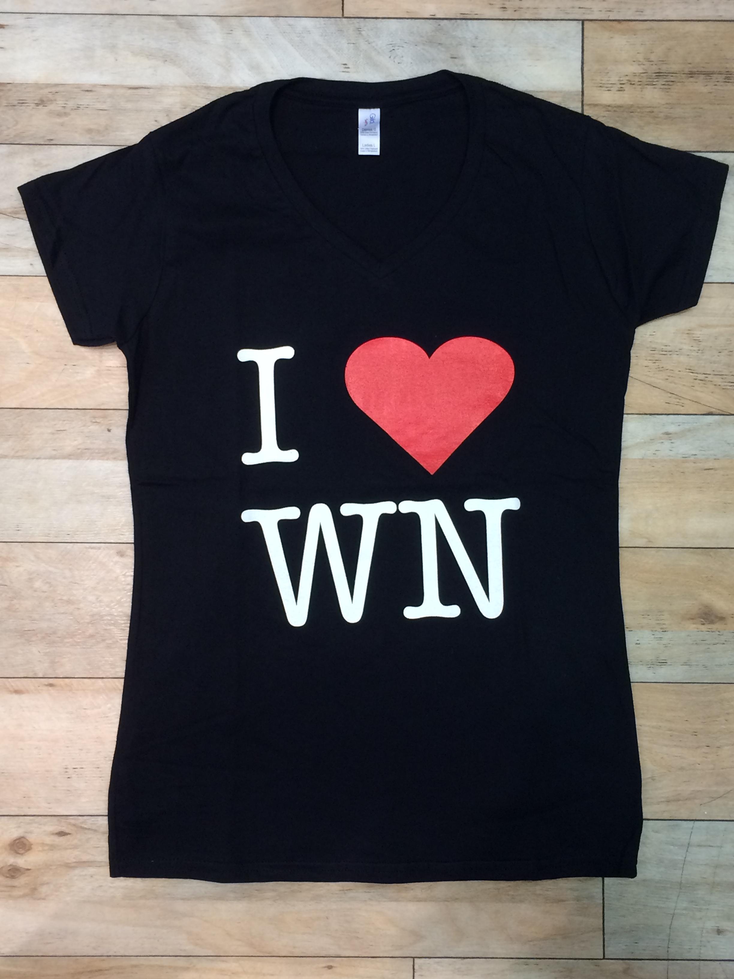 I love WN T-Shirt schwarz