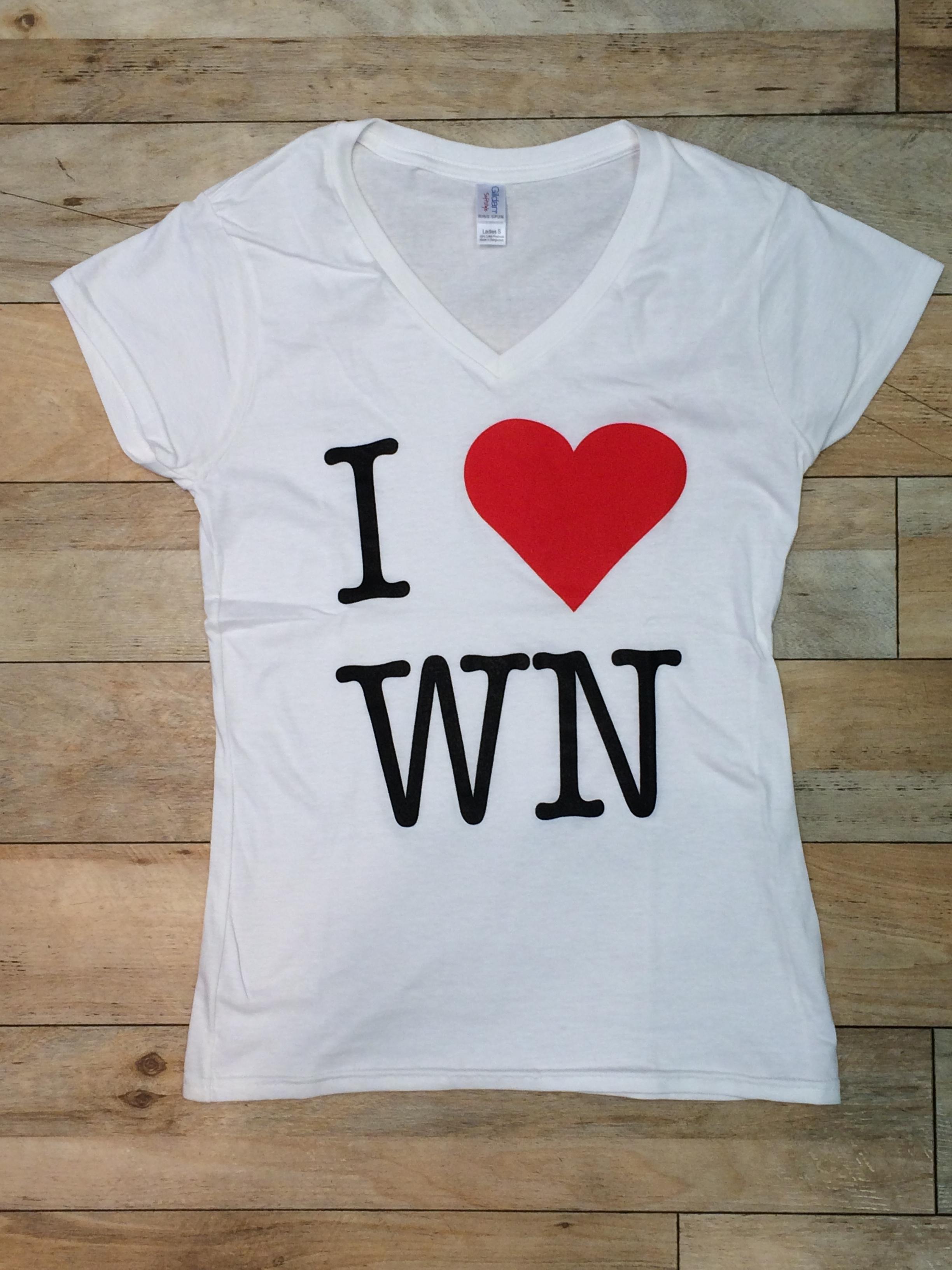 I love WN T-Shirt weiß