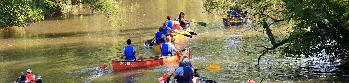 Mit dem Kanu paddeln in Waiblingen