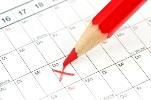 Kalenderblatt für Terminvereinbarung