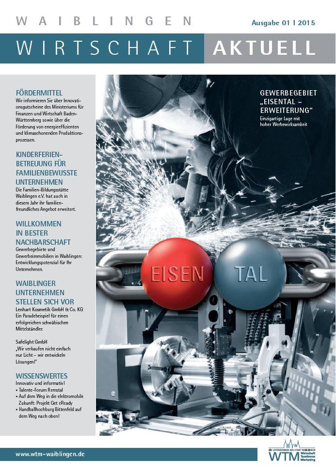 Titelbild 1. Ausgabe Waiblingen Wirtschaft aktuell