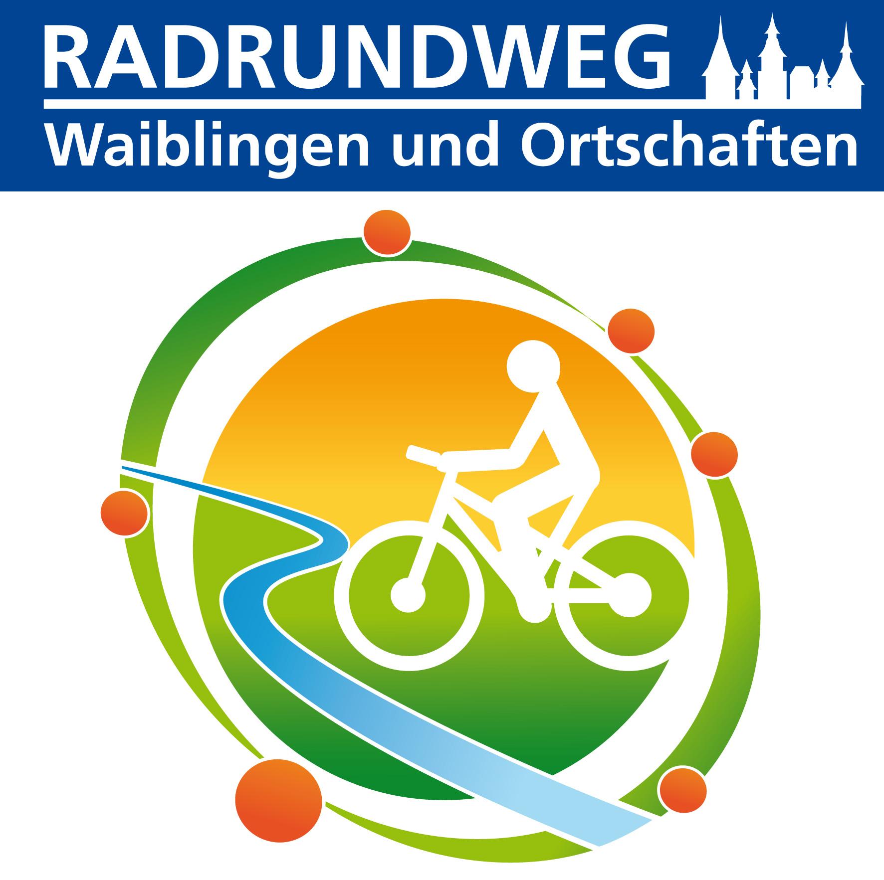 das Logo des Radrundweg Waiblingen und Ortschaften