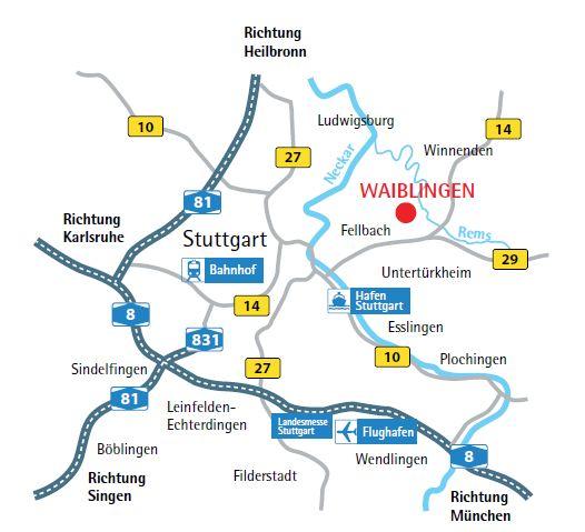 Anfahrt Waiblingen