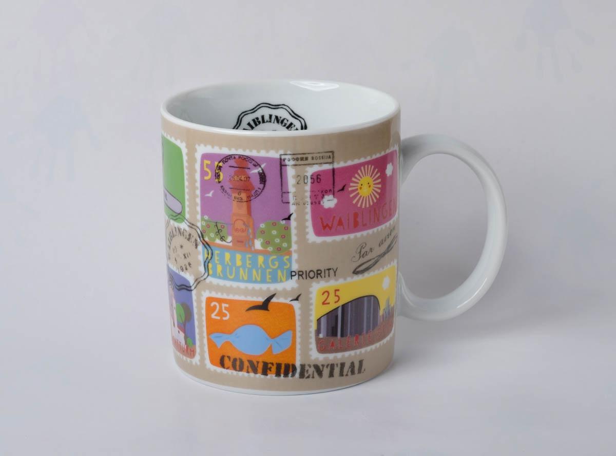 Tasse mit Stamps - 11,95 €