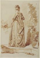 Jean-Honoré Fragonard  Junge Frau, vom Rücken gesehen, 1775 –1785 © Hessisches Landesmuseum Darmstadt,  Foto: Wolfgang Fuhrmannek, HLMD