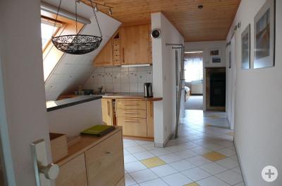 Küche in der Ferienwohnung Koser