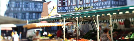 Szene auf dem Wochenmarkt