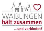 Logo Waiblingen hält zusammen und verbindet