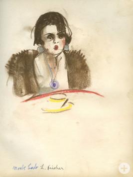 Skizzenbuch: Dame in Monte Carlo