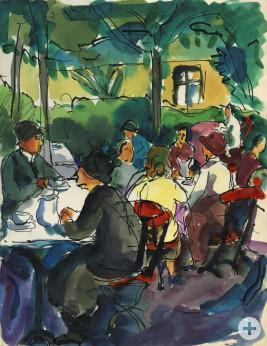 Skizzenbuch: Café in Arth