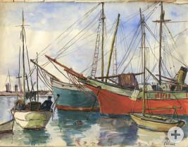 Skizzenbuch: Hafen von Palma