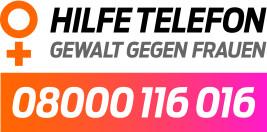 Logo des Hilfetelefons 08000116016