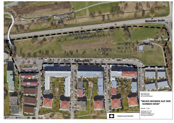 Luftbild Abgrenzung Neues Wohnen Korber Höhe