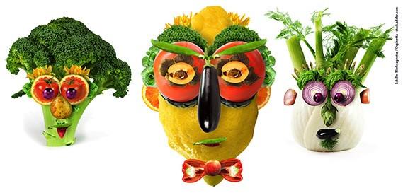 Wochenmarkt Gemüsegesichter