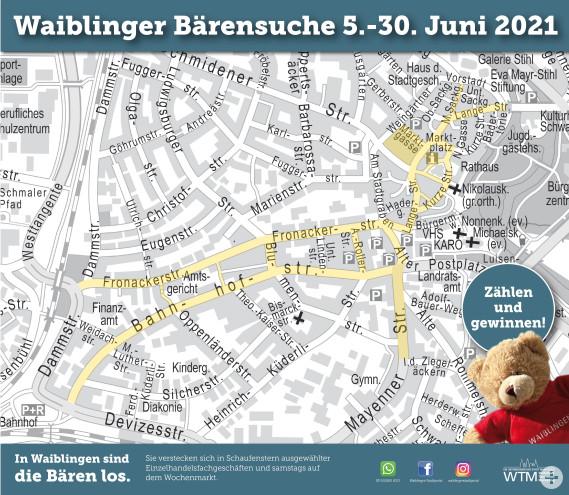 Plan Suchgebiet Waiblinger Bärensuche