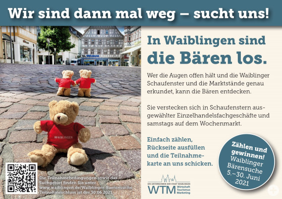 Postkarte Waiblinger Bärensuche